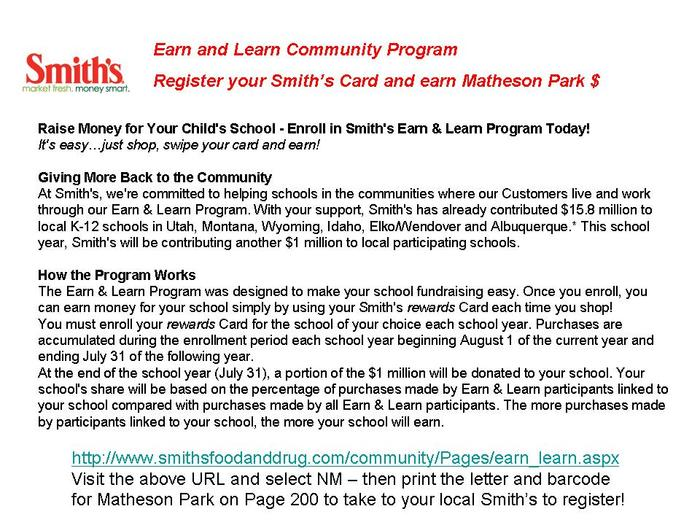 Smith's Community Rewards - Earn and Learn